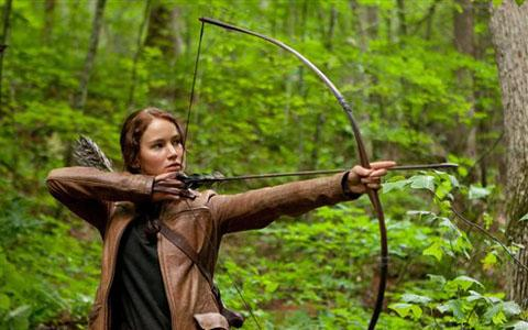 Jennifer Lawrence as Katniss Everdeen in the movie 'The Hunger Games'